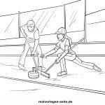 Malvorlage Curling zum Ausmalen