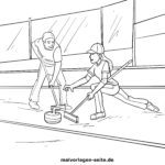 Coloriage curling | Sports d'hiver
