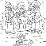 Coloring page Holy three kings coloring for children
