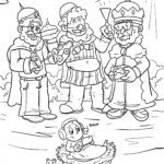 Coloring page Holy three kings | Christmas