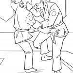 Coloring page Judo for coloring