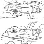 Coloring page fighter jet | plane