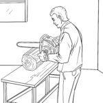 Malvorlage Kettensäge Werkzeug