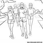 Malvorlage Marathonlauf zum Ausmalen für kider
