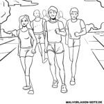 Coloring page Marathon | athletics