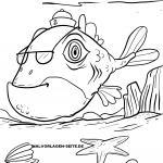 Coloring page Fish monster for coloring for children