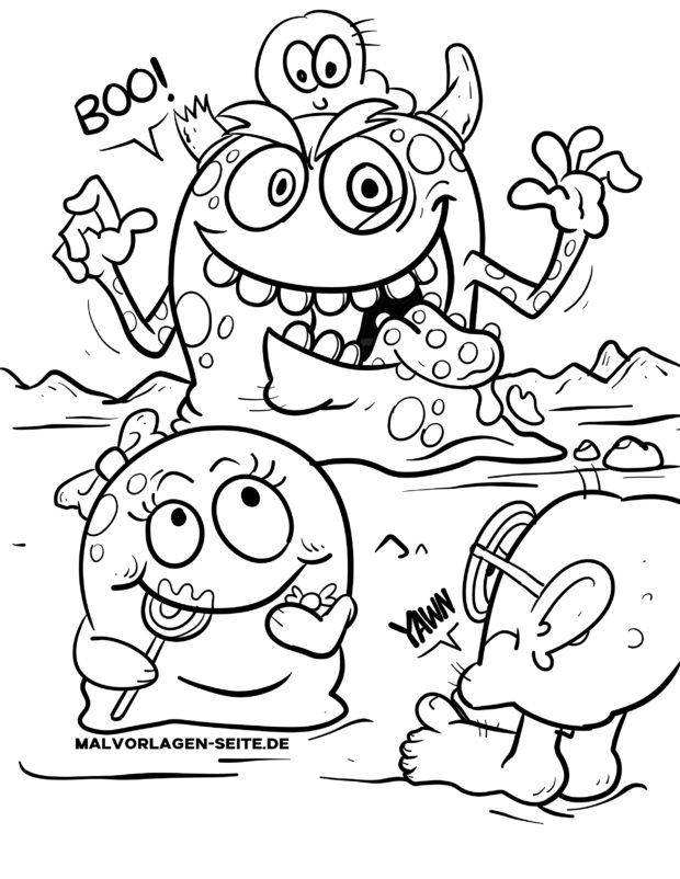 Coloring page Monster Kids