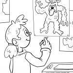 Coloring page Monster drawing for kids