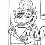 Coloring page Monster teacher for coloring for students
