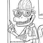 Coloring page Monster