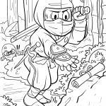 Coloring page Ninja for coloring for children