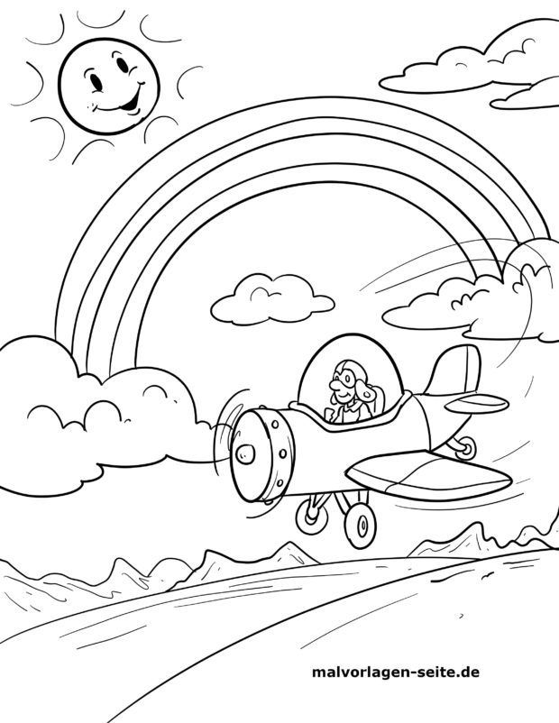 Coloring page rainbow