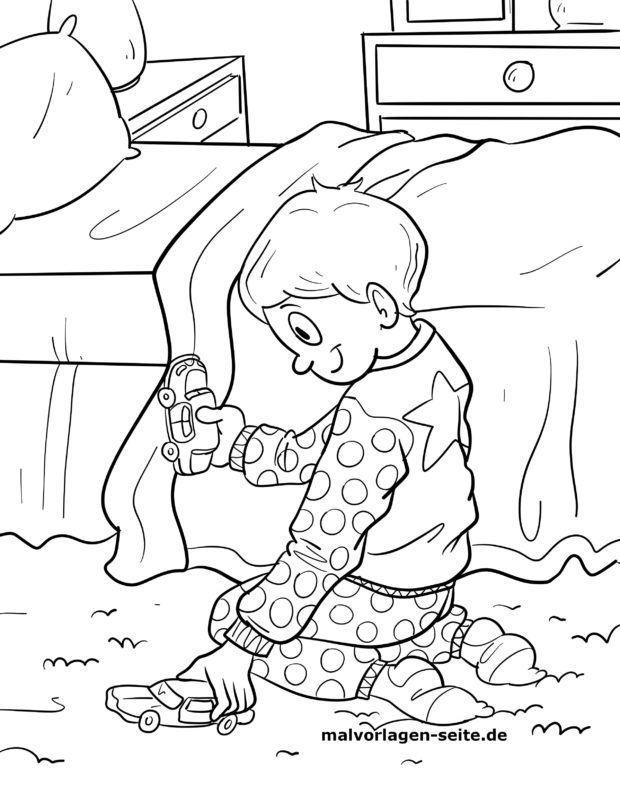 Malvorlage Schlafanzug / Pyjama