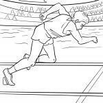 Coloring page sprinting / athletics for coloring for children