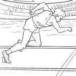 Coloring page Sprinter at the start | athletics