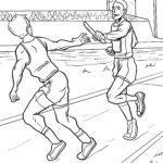 Coloring page relay race | athletics