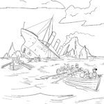 Coloring page Titanic | history