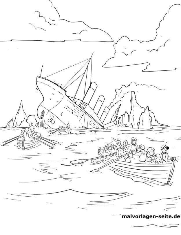 Malvorlage Untergang der Titanic