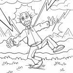 How do I behave correctly during a thunderstorm - children's question
