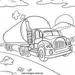 Omalovánky cisternový tanker / cisternový vůz