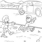 Coloring game game not on the road | prevention