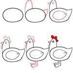 Kako nacrtati piletinu