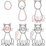 Learning to Draw for Kids - Drawing a Cat