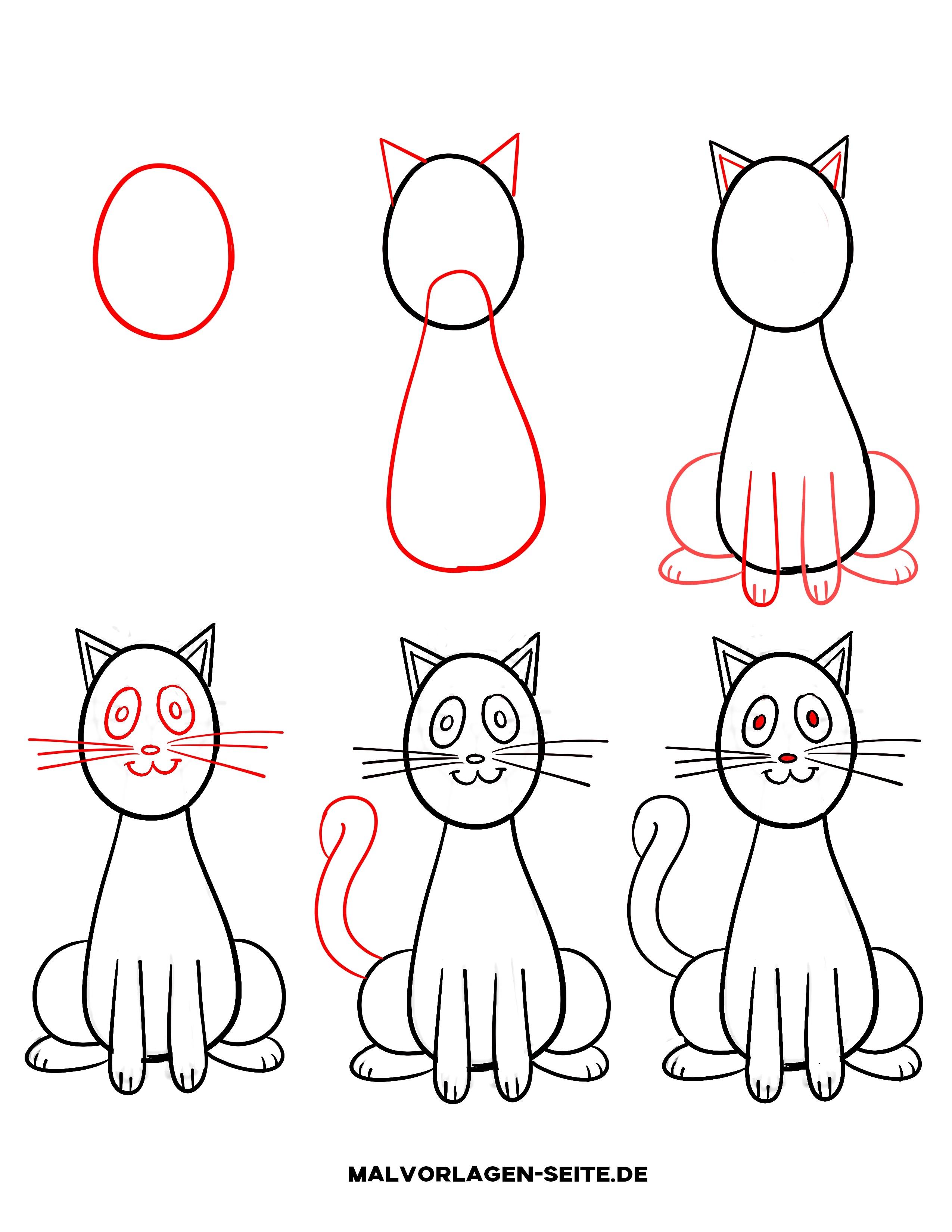Gestreifte Katze 2 Ausmalbild Malvorlage 12