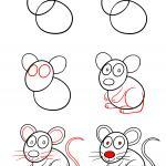 Learn how to draw - how to draw a mouse