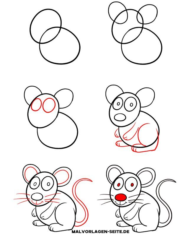 Eine Maus zeichnen lernen