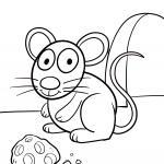 Värityssivu pienille lapsille - hiiri väritystä varten