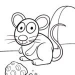Coloring page for little kids - mouse