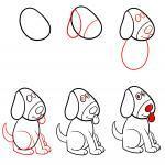 Zeichnen lernen für Kinder - Hund