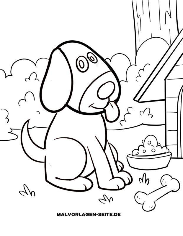 Malvorlage für kleine Kinder - Hund