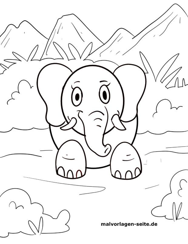 Circus elephants coloring page | Elephant coloring page, Coloring ... | 802x620