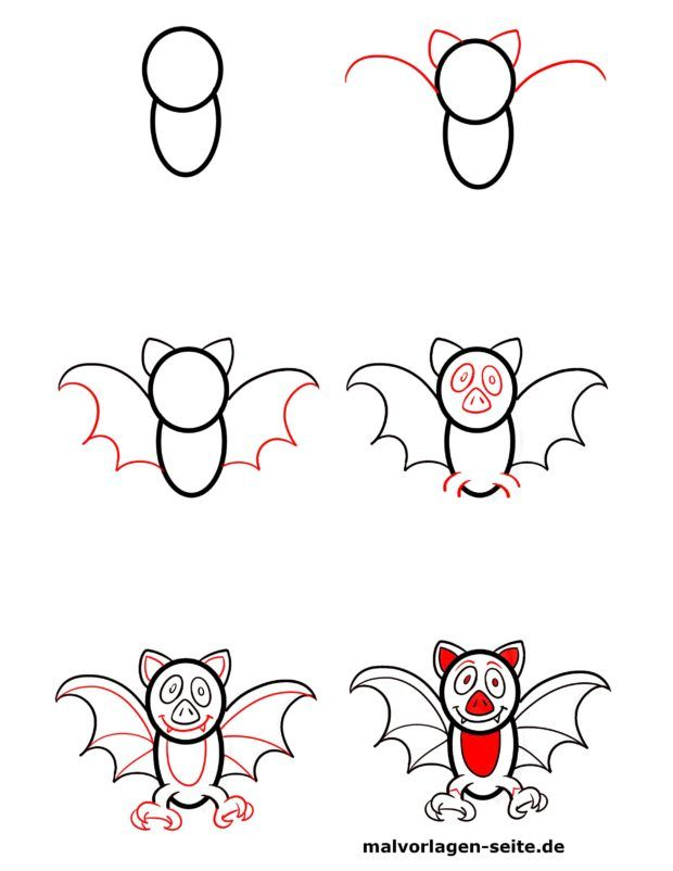 How do I draw a bat?