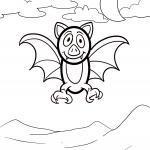 Fledermaus zum Ausmalen für kleine Kinder