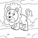 Löwe zum Ausmalen für kleine Kinder