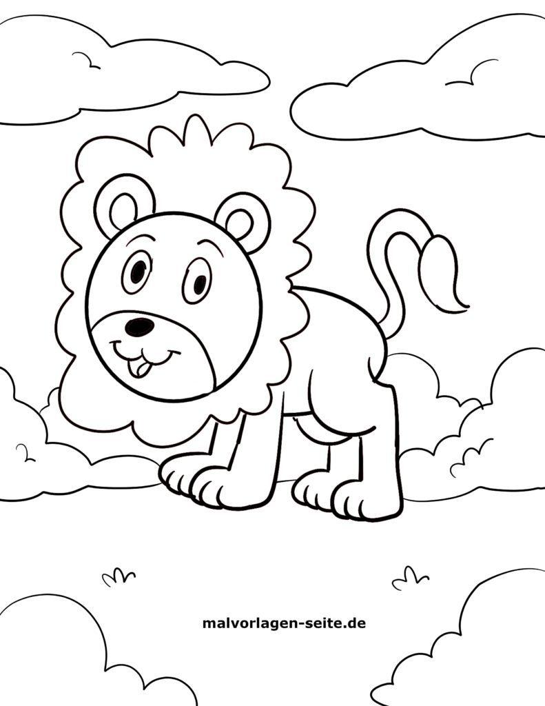 malvorlage kleine kinder  löwe  kostenlose ausmalbilder