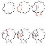 How to draw a sheep's guide