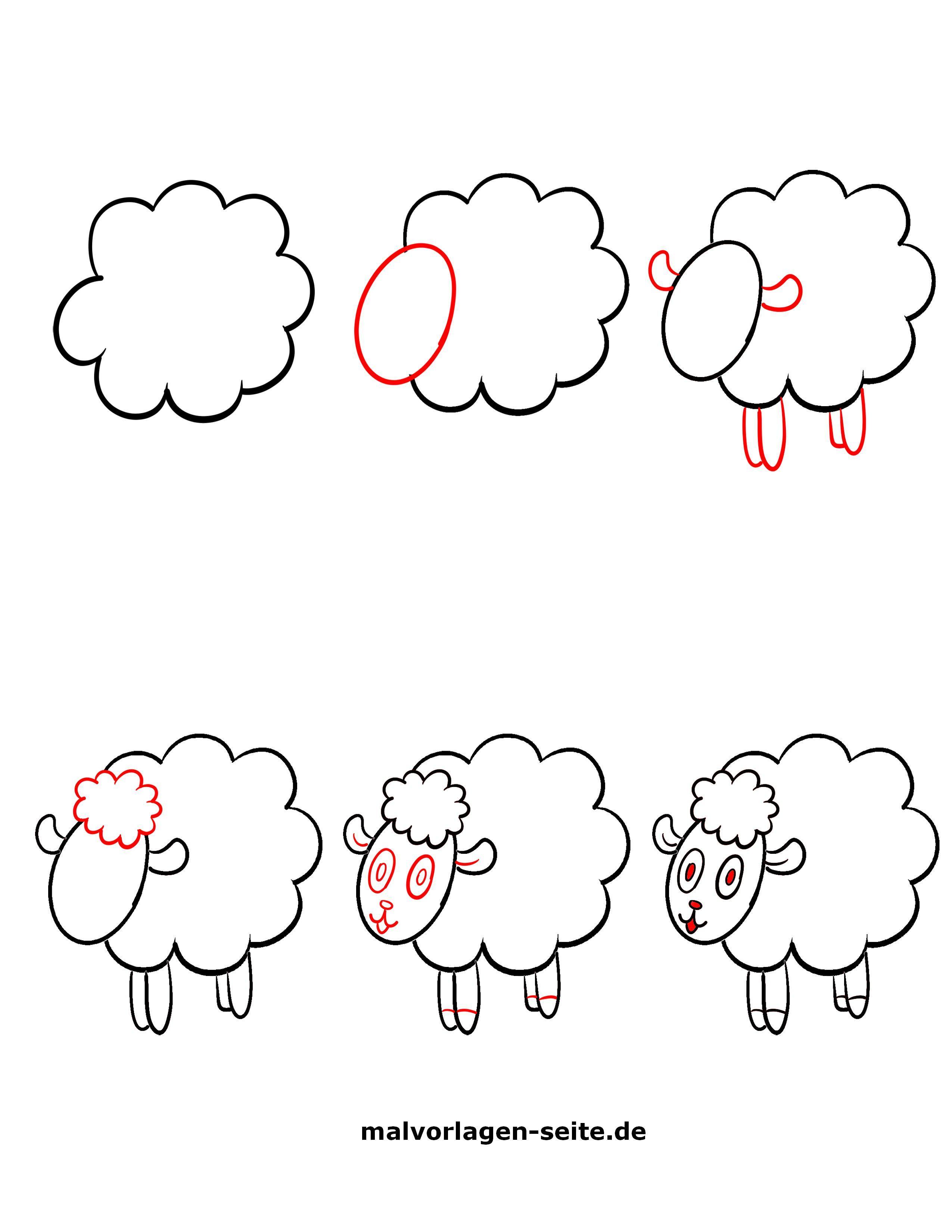 Tolle Wie Zeichnet Man Ein Schaf - Kostenlose Ausmalbilder