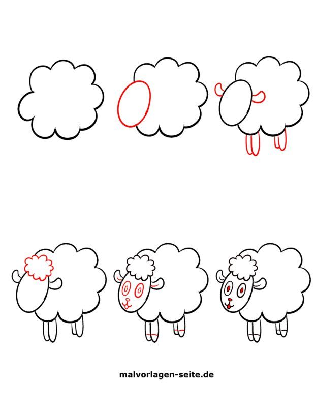 How to paint a sheep