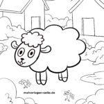 Χρωματισμός σελίδα για μικρά παιδιά - πρόβατα