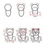 Comment peindre un tigre - instructions pour les enfants