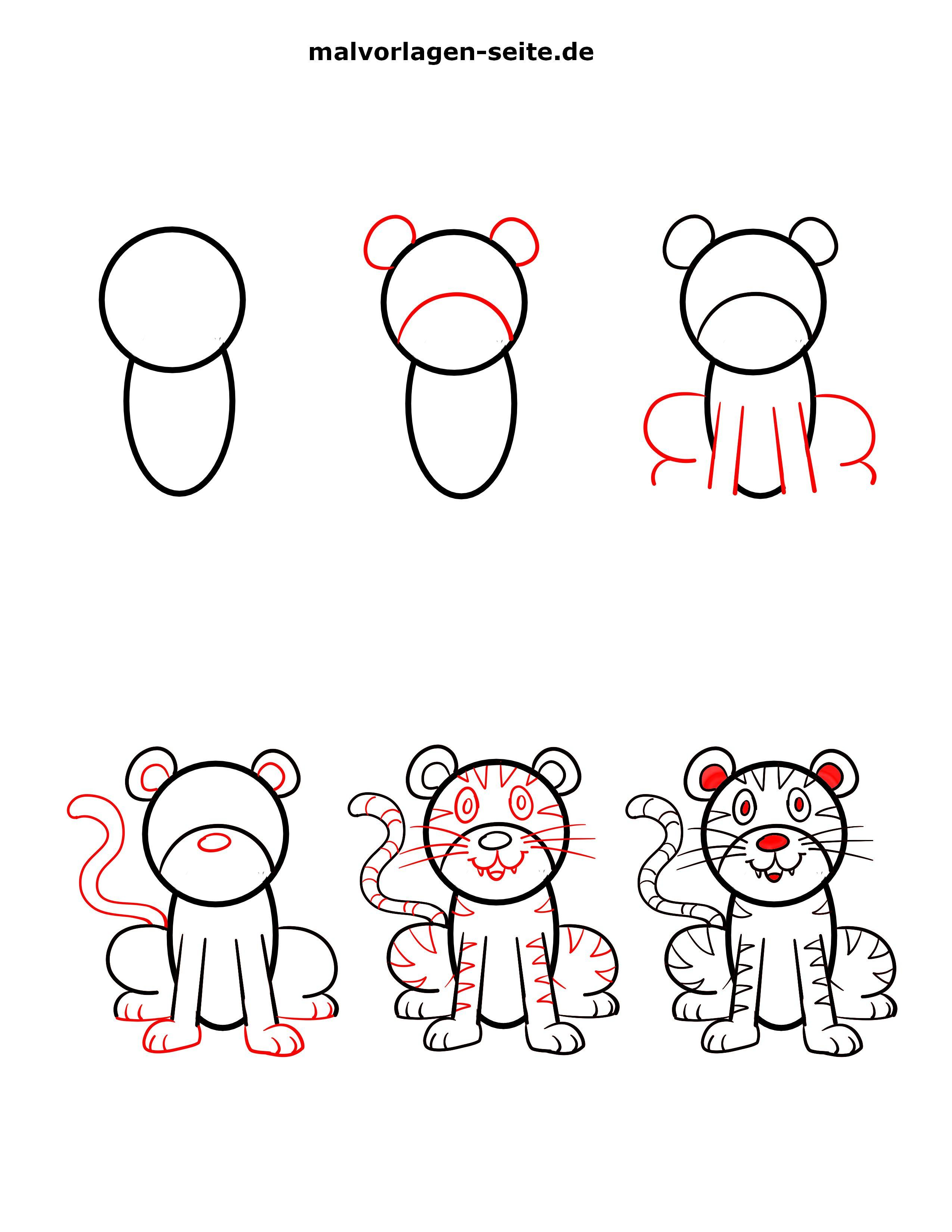 60 Tiger Shape Templates Crafts Colouring 0