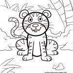 Ausmalbild für kleine Kinder - Tiger