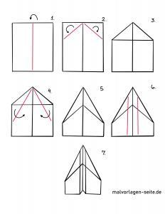 Paper airplane folding instruction