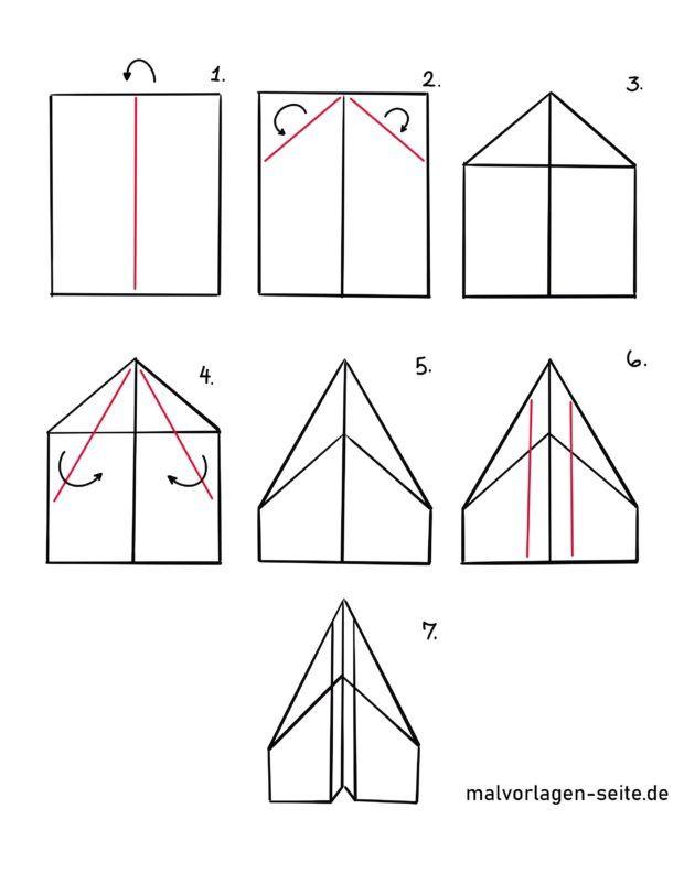 Faltanleitung Papierflieger falten