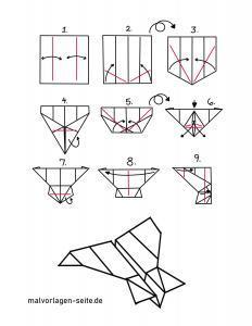 Papierflieger falten Faltanleitung