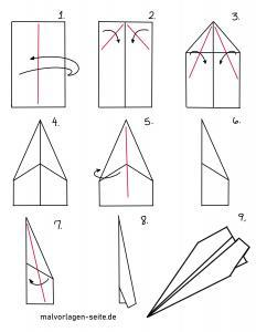 Paper airplane tinker with folding instructions